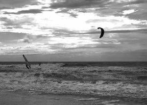kitesurf et planche à voile