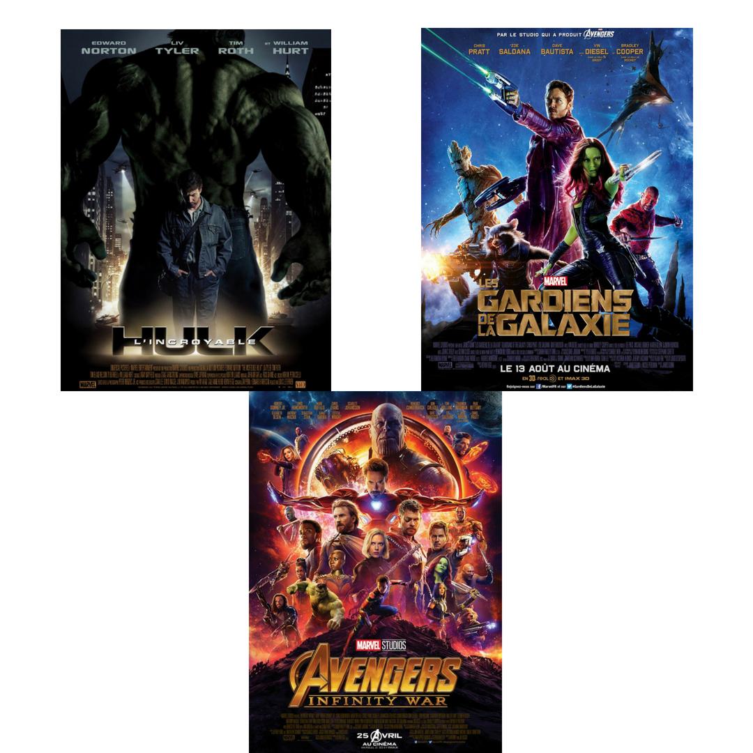 Les pochettes des films Marvel préférés de la rédaction H-Auteurs