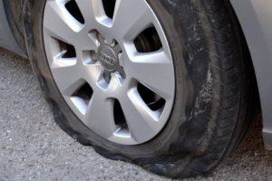 pneu dégonflé
