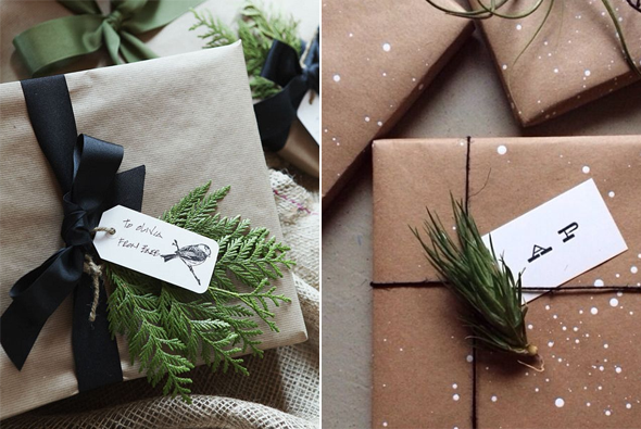 paquet cadeau noel sapin