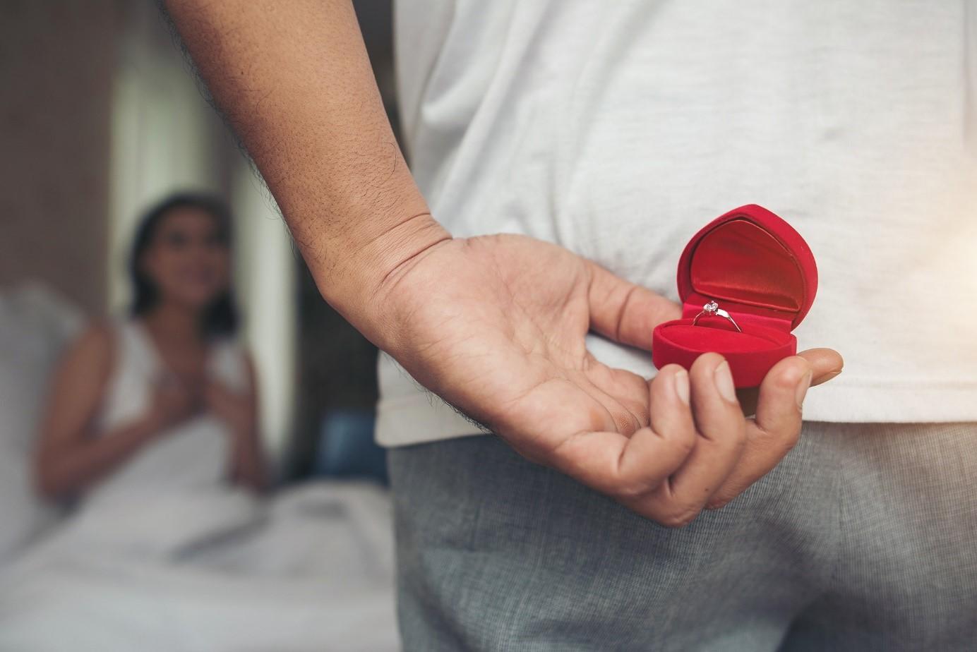 Bague fiançailles demande mariage